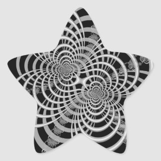 Lattice in Black and White Star Sticker