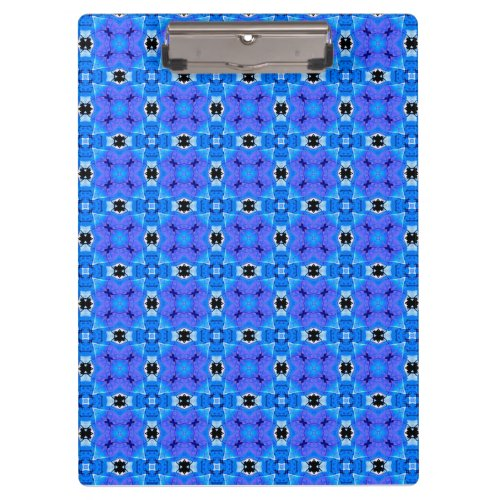 Lattice Modern Blue Violet Abstract Floral Quilt Clipboard