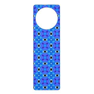 Lattice Modern Blue Violet Abstract Floral Quilt Door Hanger