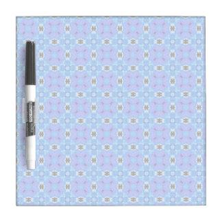 Lattice Modern Blue Violet Abstract Floral Quilt Dry Erase Whiteboard