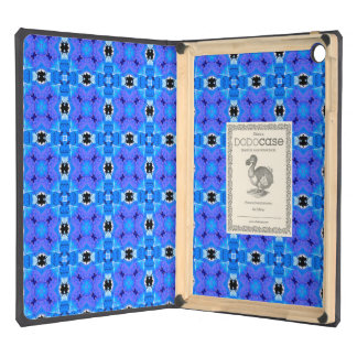 Lattice Modern Blue Violet Abstract Floral Quilt iPad Air Cases