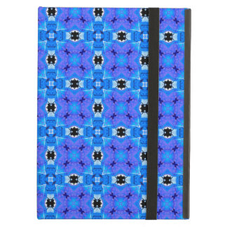Lattice Modern Blue Violet Abstract Floral Quilt iPad Air Cover