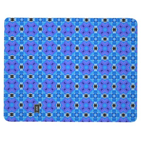 Lattice Modern Blue Violet Abstract Floral Quilt Journal