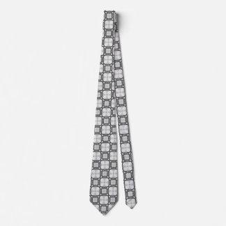 Lattice Moroccan Abstract Square Tile Pattern Neck Tie
