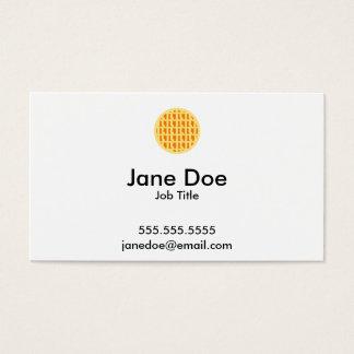 Lattice Pumpkin Pie - Pi Day Business Card