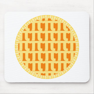 Lattice Pumpkin Pie - Pi Day Mouse Pad