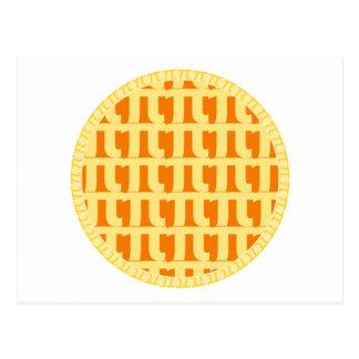 Lattice Pumpkin Pie - Pi Day Postcard