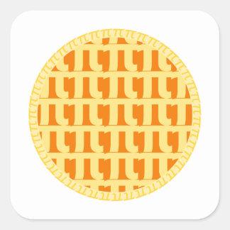 Lattice Pumpkin Pie - Pi Day Square Sticker