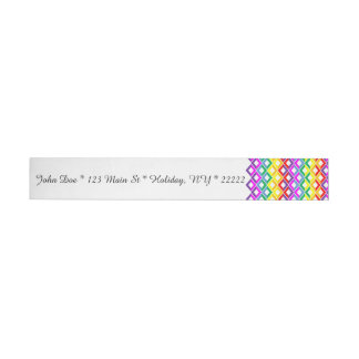 Lattice Rainbow Wraparound Address Label