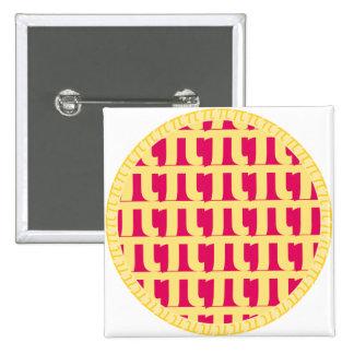 Lattice Raspberry Pie - Pi Day Pinback Button