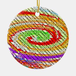 Lattice Spiral Digital Art Ceramic Ornament