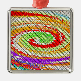 Lattice Spiral Digital Art Metal Ornament