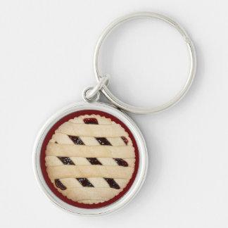 Lattice-Top Raspberry  Pie/Tart  Keychain