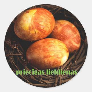 Latvain Easter Sticker
