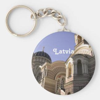 Latvia Architecture Key Chain