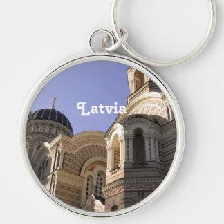Latvia Architecture Keychain