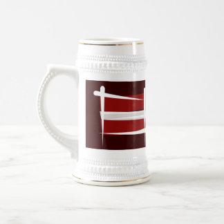 Latvia Brush Flag Beer Stein