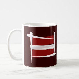 Latvia Brush Flag Coffee Mug