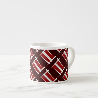 Latvia Brush Flag Espresso Cup