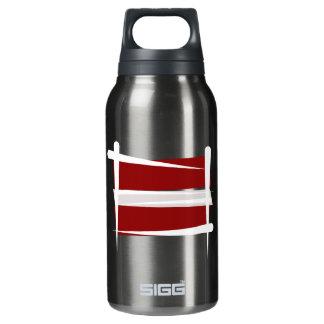 Latvia Brush Flag Insulated Water Bottle