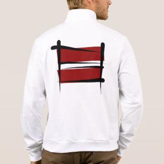 Latvia Brush Flag Jacket