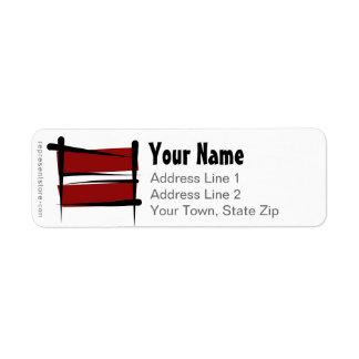 Latvia Brush Flag Label