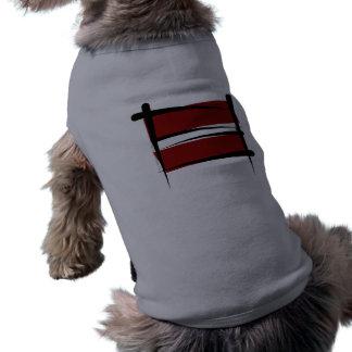 Latvia Brush Flag Shirt