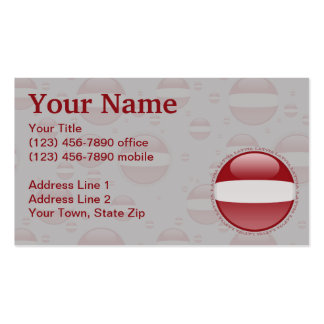 Latvia Bubble Flag Double-Sided Standard Business Cards (Pack Of 100)