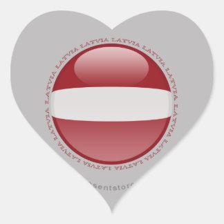 Latvia Bubble Flag Heart Sticker