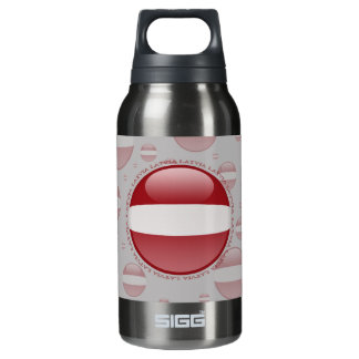 Latvia Bubble Flag Insulated Water Bottle