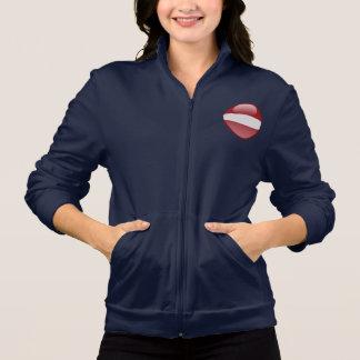 Latvia Bubble Flag Jacket