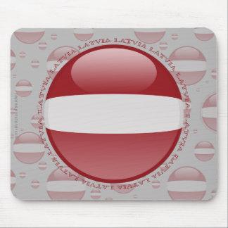 Latvia Bubble Flag Mouse Pad