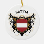 Latvia Christmas Ornament