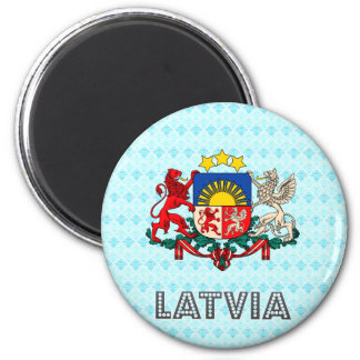 Latvia Coat of Arms 2 Inch Round Magnet