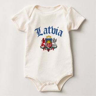 Latvia Coat of Arms Baby Creeper