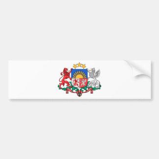 Latvia Coat of Arms Bumper Sticker