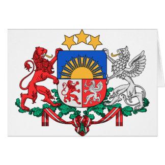 Latvia Coat of Arms Card