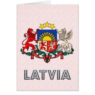 Latvia Coat of Arms Greeting Card