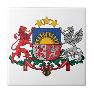 Latvia Coat Of Arms Ceramic Tile