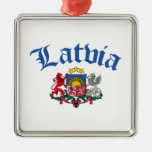 Latvia Coat of Arms Christmas Tree Ornaments
