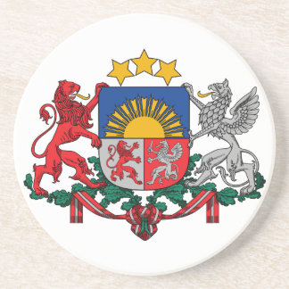 Latvia Coat Of Arms Drink Coaster