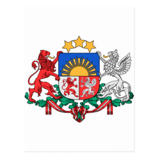Latvia Coat of Arms Postcard