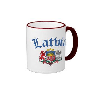 Latvia Coat of Arms Ringer Mug