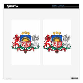Latvia Coat of Arms Kindle Fire Skins