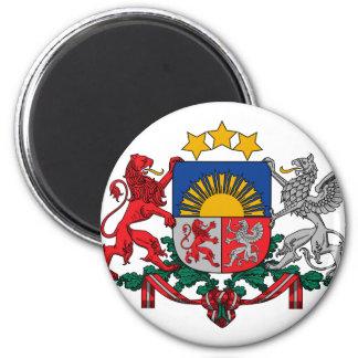 latvia emblem 2 inch round magnet
