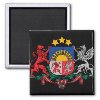 latvia emblem 2 inch square magnet