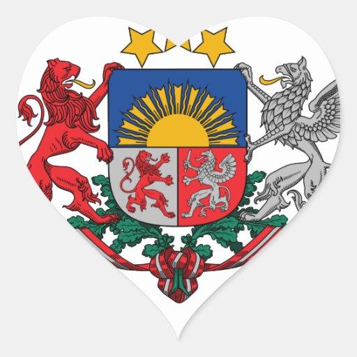 latvia emblem heart sticker