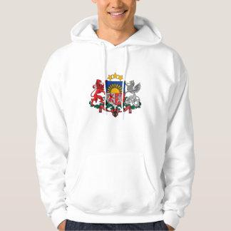 latvia emblem hoodie
