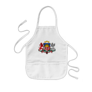 latvia emblem kids' apron