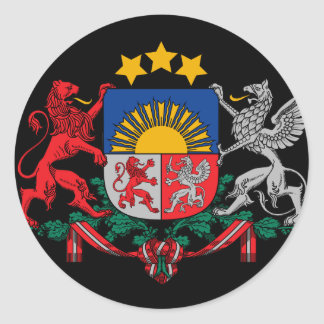 latvia emblem sticker